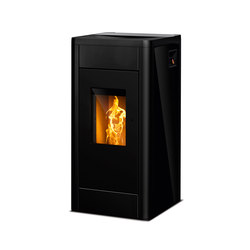 filo glass black pellet burning stoves from rika. Black Bedroom Furniture Sets. Home Design Ideas
