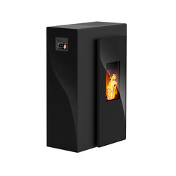 Miro | with glass black / body black | Stoves | Rika