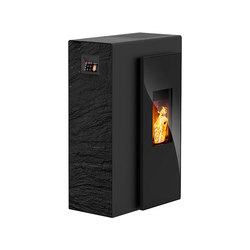 Miro | with décor side panel slate black / body black | Pellet burning stoves | Rika