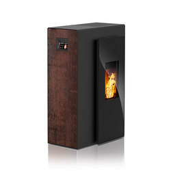 Miro | with décor side panel rust effect / body black | Stoves | Rika