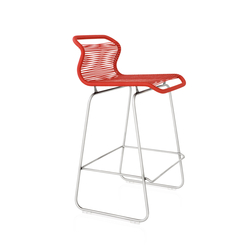 Panton One Kitchen | zen red | Bar stools | Montana Møbler