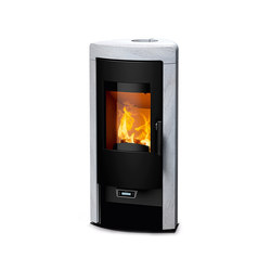 Sol Rikatronic4 | with white stone | Wood burning stoves | Rika