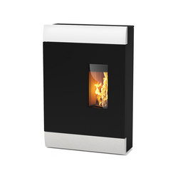 Roco MultiAir | with white stone casing | Pellet burning stoves | Rika