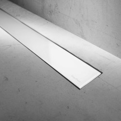Modulo Basic White Glass | Linear drains | Easy Drain