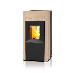 Revo | with sandstone casing | Pellet burning stoves | Rika