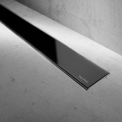 Modulo Basic Black Glass | Linear drains | Easy Drain