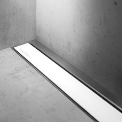 Modulo TAF Wall White Glass | Linear drains | Easy Drain