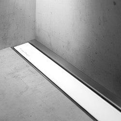 Modulo TAF Wall White Glass | Sumideros para duchas | Easy Drain