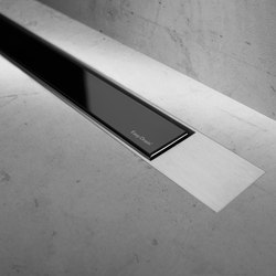 Modulo Design Z-2 Brush Black Glass | Linear drains | Easy Drain