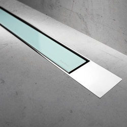 Modulo Design Z-2 Chrome Green Glass | Linear drains | Easy Drain