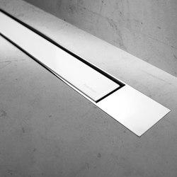 Modulo Design Z-2 Chrome White Glass | Linear drains | Easy Drain