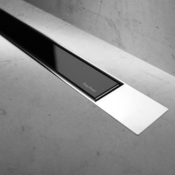Modulo Design Z-2 Chrome Black Glass | Scarichi doccia | Easy Drain