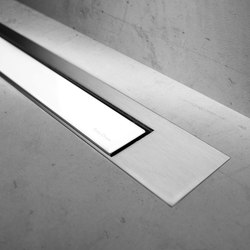 Modulo Design Z-3 Brush White Glass | Linear drains | Easy Drain