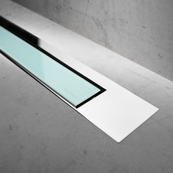 Modulo Design Z-3 Chrome Green Glass | Linear drains | Easy Drain