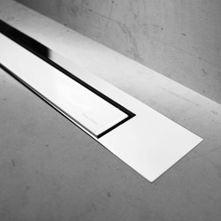 Modulo Design Z-3 Chrome White Glass | Linear drains | Easy Drain