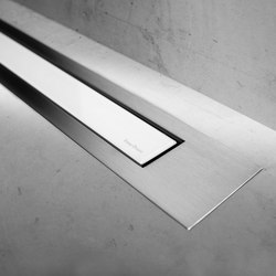 Modulo Design Z-4 Brush White Glass | Linear drains | Easy Drain