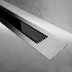 Modulo Design Z-4 Brush Black Glass | Linear drains | Easy Drain