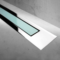 Modulo Design Z-4 Chrome Green Glass | Scarichi doccia | Easy Drain