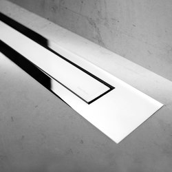 Modulo Design Z-4 Chrome White Glass | Linear drains | Easy Drain