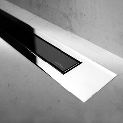 Modulo Design Z-4 Chrome Black Glass | Duschabläufe / Duschroste | Easy Drain