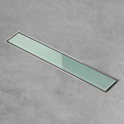 Aqua Jewels Linea Green Glass | Linear drains | Easy Drain