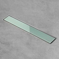 Aqua Jewels Linea Green Glass | Duschabläufe / Duschroste | Easy Drain