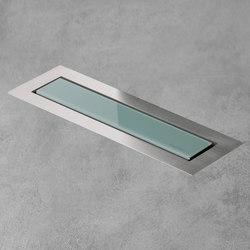 Aqua Jewels Linea Design Green Glass | Linear drains | Easy Drain