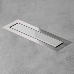 Aqua Jewels Linea Design White Glass | Linear drains | Easy Drain