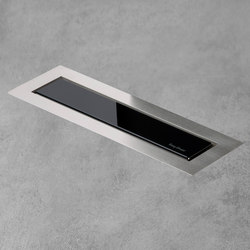 Aqua Jewels Linea Design Black Glass | Linear drains | Easy Drain