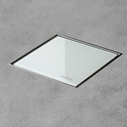 Aqua Jewels Quattro White Glass | Plate drains | Easy Drain