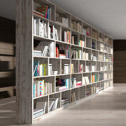 Ecco Bookshelf | Shelves | Sistema Midi