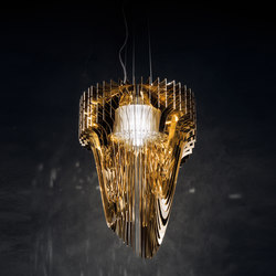 Aria Gold suspension | Suspended lights | Slamp