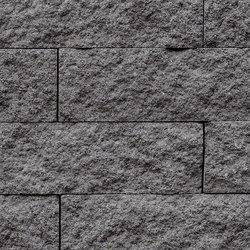 Muretto Mauersystem grau-anthrazit gemasert (CF90) | Garden edging | Metten