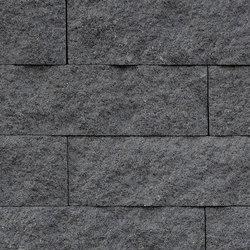 Muretto Palisaden granitgrau | Bordi del giardino | Metten