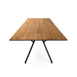 Radice Quadra table with teak top | Dining tables | Fast