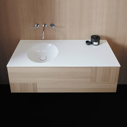 Coco | Mineral cast washbasin incl. vanity unit | Vanity units | burgbad