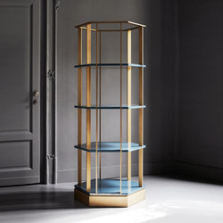 Sebastian Hexagonal bookcase | Library shelving | Meridiani