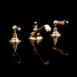 Black Diamond 3 hole basin set | Wash basin taps | Devon&Devon