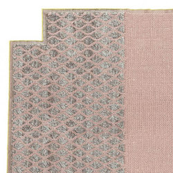 Mangas Space Rug Rhombus Square Pink 9 | Tappeti / Tappeti d'autore | GAN
