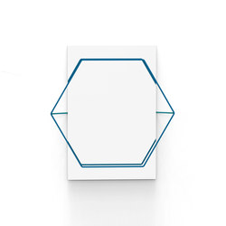 Untitled Mirror Hexa Blue | Mirrors | Untitled Story