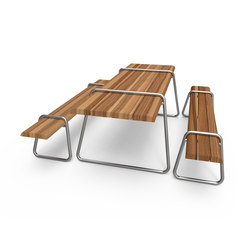 Clip-board picnic 220 | bench & table | Tables et bancs de restaurant | Lonc