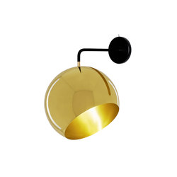 Tilt Globe Brass Wall | Wall lights | Nyta