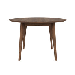Walnut Osso round dining table | Mesas para restaurantes | Ethnicraft