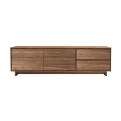 Teak Wave TV cupboard | Multimedia Sideboards | Ethnicraft
