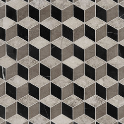 Art Deco Cubist | Natural stone wall tiles | Claybrook Interiors Ltd.