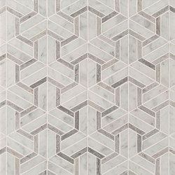 Art Deco Maze | Azulejos de pared de piedra natural | Claybrook Interiors Ltd.