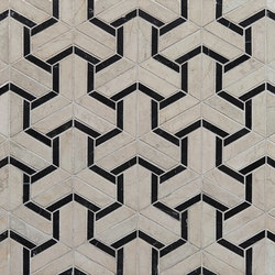 Art Deco Maze | Baldosas de piedra natural | Claybrook Interiors Ltd.