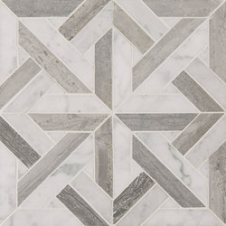 Art Deco Parquet | Azulejos de pared de piedra natural | Claybrook Interiors Ltd.