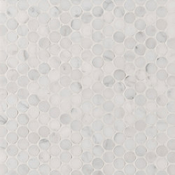 Manhattan Penny Round | Natural stone tiles | Claybrook Interiors Ltd.