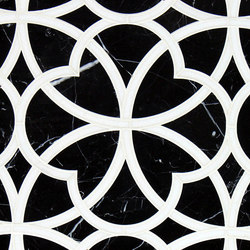 Marrakech Arabesque Stone Mosaics | Azulejos de pared de piedra natural | Claybrook Interiors Ltd.